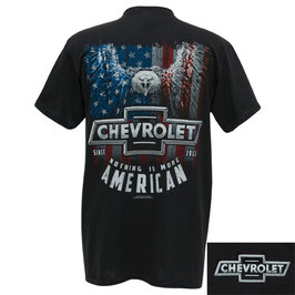 Chevrolet T-Shirt - Nothing Is More American - Schwarz