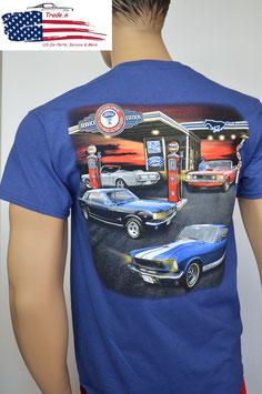 #FMFGS - Ford Mustang T-Shirt - Tribar - Service Station Mustang