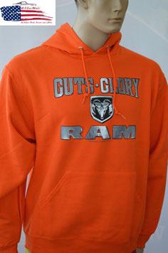 Dodge RAM Hoodie - Kapuzenpullover - Dodge RAM Logo - Guts Glory - SALE