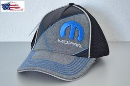 #MOPLS - Mopar Basecap - Mopar Logo - Schwarz/Grau - Mesh
