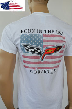 #CVVLGR-W - Corvette T-Shirt - Born In The USA