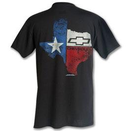 Chevrolet T-Shirt - Texas State Chevrolet Bowtie - Schwarz