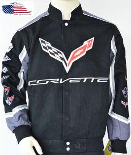 #COR-G6 - Corvette Jacke - Corvette Logos - C1 bis C7 - Schwarz