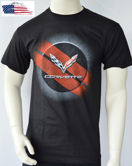 Corvette C7 T-Shirt - C7 Logo - Corvette C7 Flag