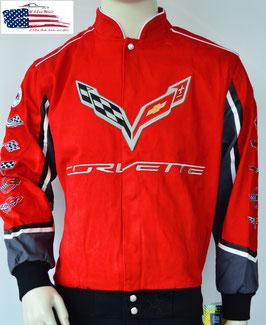 Corvette Jacke - Corvette Logos - C1 bis C7 - Rot
