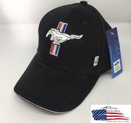 Ford Mustang Basecap - Ford Mustang GT - Mustang Tribar Logo - Schwarz