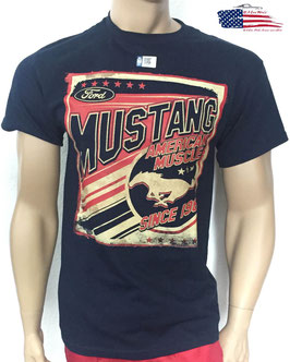 #FMVIN - Ford Mustang T-Shirt - American Muscle - Vintage Style