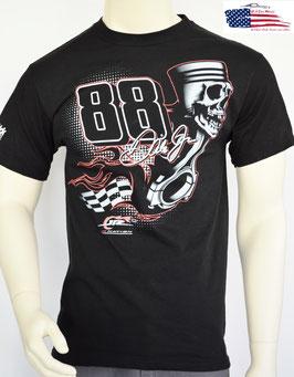 #DJT88 - Dale Jr. T-Shirt - Piston Skull - Kolben