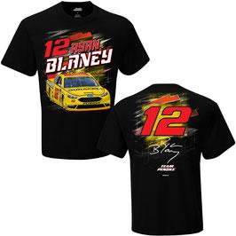 "#RB12DC - Ryan Blaney ""12"" NASCAR T-Shirt Duracell - Schwarz"