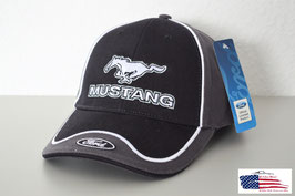 #HH081_GRY - Ford Mustang Basecap mit Ford Emblem - Schwarz/Grau