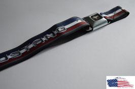 #WFM013 - Ford Mustang Sicherheitsgurt Gürtel mit Tribar Stripes Print