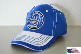 Mopar 80th Anniversary Basecap Flex - Blau/Weiß