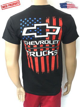 #CVCHT - Chevrolet Trucks T-Shirt - US Flag - Americana
