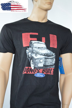 Ford T-Shirt - Ford F1 Pick Up - Ford Trucks Bonus Built - Schwarz - SALE