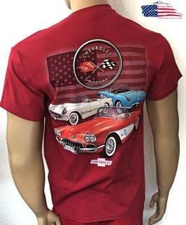 #CVC1R - Corvette C1 T-Shirt - C1 Series - US Flag