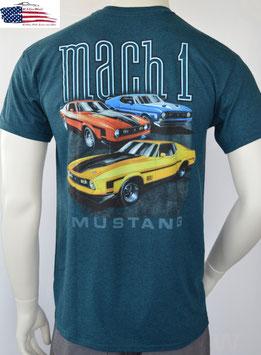 Ford Mustang T-Shirt - Ford Mustang Motiv Mach 1 - Petrol
