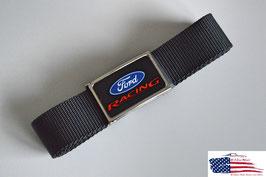 #FR10200 - Ford Racing Stoffgürtel mit hochglänzender Schnalle