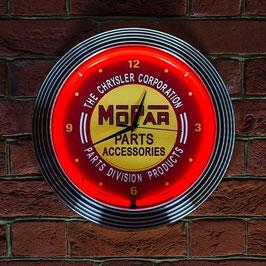 #MOPNCR - Mopar Neonuhr - Mopar Vintage Logo - Neon Rot
