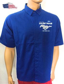 #FMPCS-ROY - Ford Mustang Mechanikerhemd - Pit Crew Shirt - Royalblau