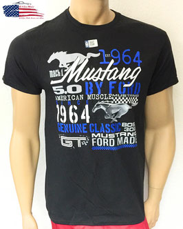 FMCOL - Ford Mustang T-Shirt - Mustang since 1964 - Collage - Schwarz