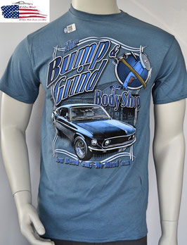 #FMBGM - Ford Mustang T-Shirt - Bump and Grind - 1969er
