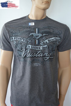 #FMSLH - Ford Mustang T-Shirt A Stampede Is Louder Than A Heartbeat