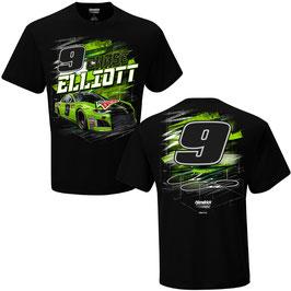 "#CE9MTN - Chase Elliot ""9"" NASCAR T-Shirt - Mtn Dew - Schwarz"