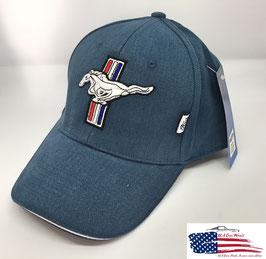Ford Mustang Basecap - Ford Mustang GT - Mustang Tribar Logo - Blau