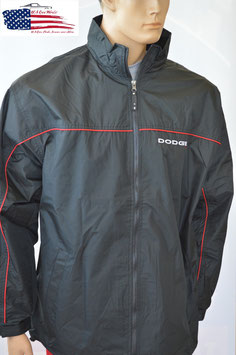 Dodge Windbreaker - Windjacke mit gesticktem Dodge Logo - Schwarz