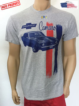 Camaro T-Shirt - Camaro Rally Stripes - Hellgrau - SALE