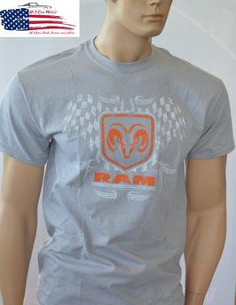 Dodge RAM T-Shirt - Dodge RAM Logo - Hellgrau