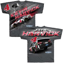 """#KHSHR - Kevin Harvick """"4"""" NASCAR T-Shirt - Steward Haas Racing - Grau"""