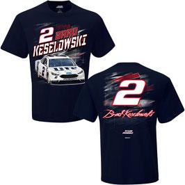 """#BK2NT - Brad Keselowski """"2"""" NASCAR T-Shirt - Navy"""