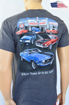 #FMSPS - Ford Mustang T-Shirt - Tribar - Speed Shop