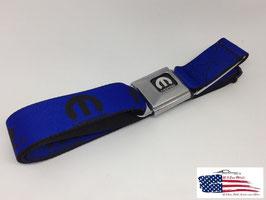 #MOP0X - Mopar Sicherheitsgurt Gürtel mit Blue Mopar Print