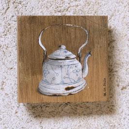Emaille-Mini-Teekessel Zwiebelmuster