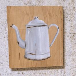 Emaille-Kaffeeknne weiß