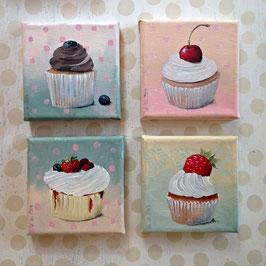 'Kaffeekränzchen' - 4er Set Cupcakes