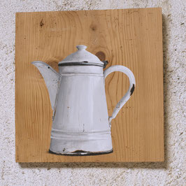 Emaille-Kaffeeknne weiß 'Der Klassiker'