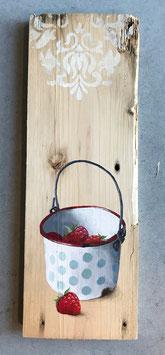 Erdbeeren in Emaille-Eimerchen
