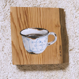 Emaille-Mini-Kaffeetasse mit Kaffee Zwiebelmuster