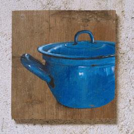 Blauer Emaille-Kochtopf 'Blautopf'
