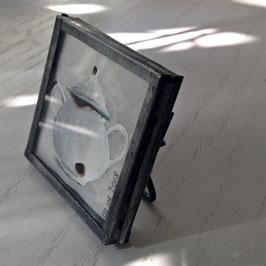 Mini-Unikat Zuckerdose weiß  zum Aufstellen (Zink) 04102016 E