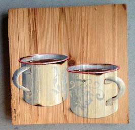 Emaille-Tassen-Duo