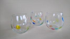 水玉グラス