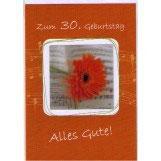 authentic GREETING CARD - Zum 30. Geburtstag Alles Gute! (3D Karte)