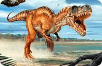 authentic MAGNET - angreifender Tyrannosaurus Rex (3D Magnet)