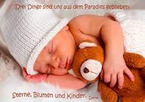 authentic-CARD - Drei Dinge sind uns aus dem Paradies geblieben - Sterne, Blumen und Kinder