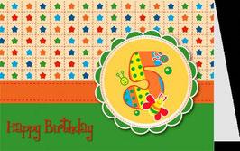 authentic GREETING CARD - Happy Birthday 5 (5. Geburtstag) (3D Karte)