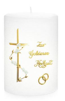 Jubiläumskerze zur silber / goldenen Hochzeit